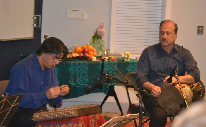 Master Kazem Davoudian performs traditional Persian music on Santour during the Nowruz Celebration Night, March 25th 2016.