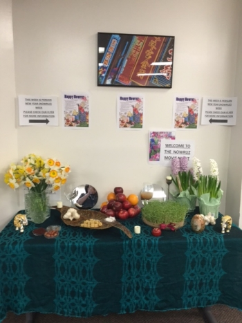 The  Persian traditional New Year table, Haft-Seen, set up during the Persian Cultural Week